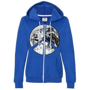 Womens Peace Earth Full Zip Hoodie - Yoga Clothing for You - 7