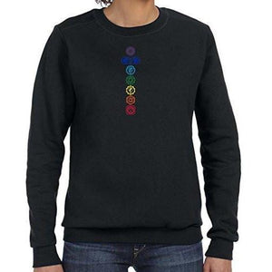 Womens Colored Chakras Lightweight Sweatshirt - Yoga Clothing for You - 1