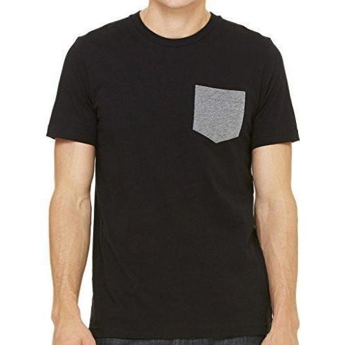 Mens Contrasting Color Pocket Tee Shirt - Yoga Clothing for You - 1