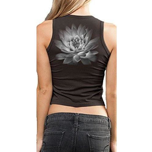 Yoga Clothing for You Ladies Lotus Flower Cropped Tank Top