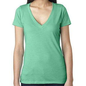 Womens Lightweight Deep V-neck Tee Shirt - Yoga Clothing for You - 1