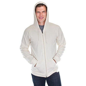 Men's Full Zip Organic Hoodie - Yoga Clothing for You - 19