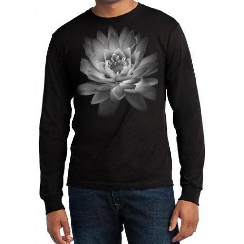 Yoga Clothing for You Mens Lotus Flower Long Sleeve Tee Shirt