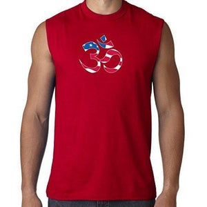 Mens Classic Patriotic OM Tee Shirt - Yoga Clothing for You - 2