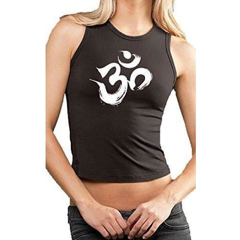 Yoga Clothing for You Ladies Brushstroke OM Cropped Tank Top