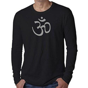 Mens AUM Symbol Long Sleeve Tee Shirt - Yoga Clothing for You - 1