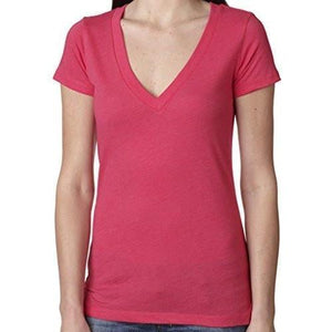 Womens Lightweight Deep V-neck Tee Shirt - Yoga Clothing for You - 7