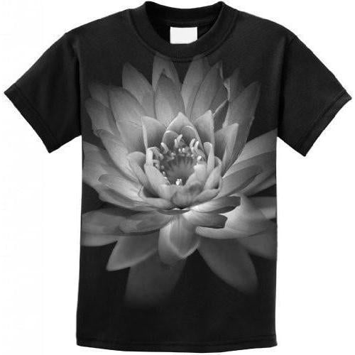 Kids Lotus Flower Youth Tee Shirt - Yoga Clothing for You