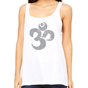 Womens Relaxed Distressed Om Tank Top - Yoga Clothing for You - 5