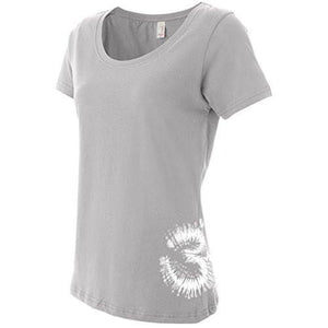 Womens Tie Dye AUM T-shirt - Bottom Side Print - Yoga Clothing for You - 9