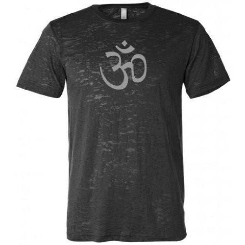 AUM Om Symbol Mens Burnout Tee Shirt - Yoga Clothing for You