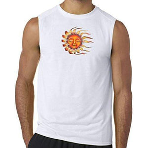 "Mens ""Sleeping Sun"" Muscle Tee Shirt - Yoga Clothing for You - 8"