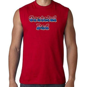 Mens American Grateful Dad Muscle Tee - Yoga Clothing for You - 5