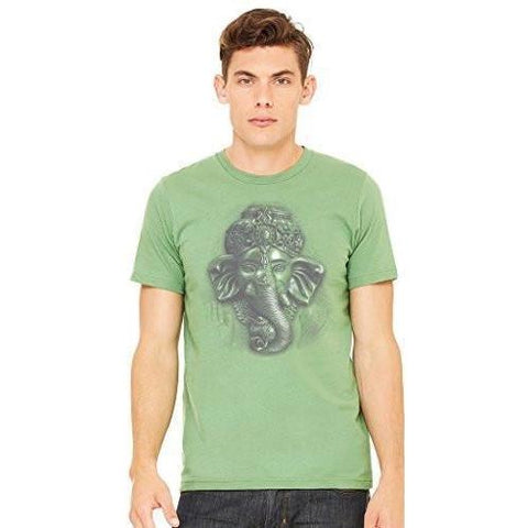 Yoga Clothing for You Men's 3D Ganesha Yoga T-shirt