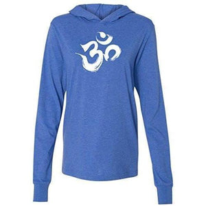 Mens Brushstroke AUM Thin Hoodie Tee Shirt - Yoga Clothing for You - 5