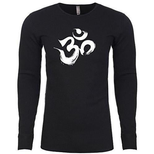Mens Brushstroke Aum Thermal Tee Shirt - Yoga Clothing for You - 1