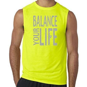 "Mens ""Balance"" Muscle Tee Shirt - Yoga Clothing for You - 7"