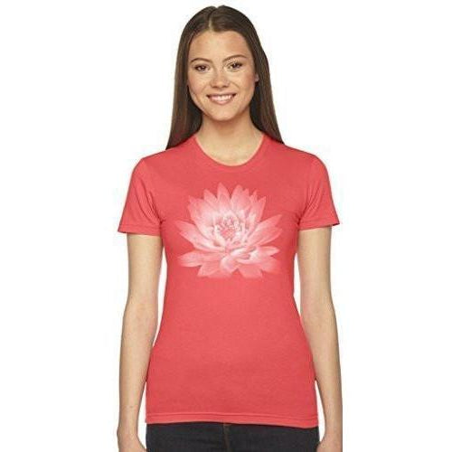 Ladies Lotus Flower Tee Shirt - Made in America - Yoga Clothing for You