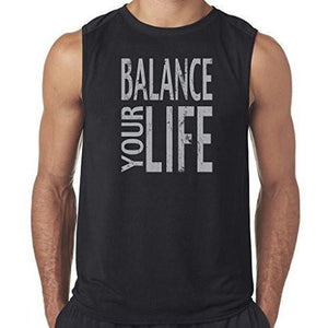 "Mens ""Balance"" Muscle Tee Shirt - Yoga Clothing for You"
