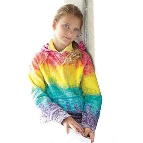 Yoga Clothing for You Girls Lightweight Rainbow Hoodie