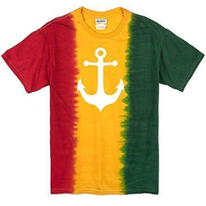 Mens Anchor Rasta Tee Shirt - Yoga Clothing for You