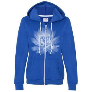 Womens Lotus Flower Full Zip Hoodie - Yoga Clothing for You - 8