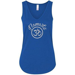 Womens Namaste OM Flowy Tank Top - Yoga Clothing for You - 8