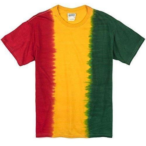 Mens Rasta Tie Dye T-Shirt - No Print - Yoga Clothing for You