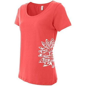 Womens Lotus Flower TShirt - Yoga Clothing for You - 5