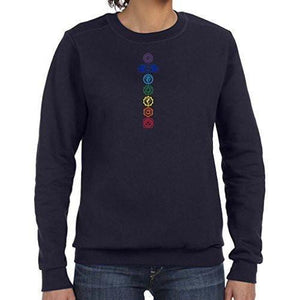 Womens Colored Chakras Lightweight Sweatshirt - Yoga Clothing for You - 8