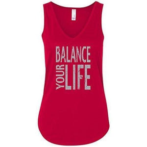 "Womens ""Balance Your Life"" Flowy Yoga Tank Top - Yoga Clothing for You - 6"