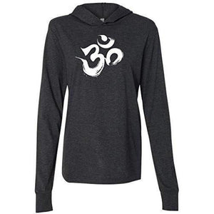 Mens Brushstroke AUM Thin Hoodie Tee Shirt - Yoga Clothing for You - 2