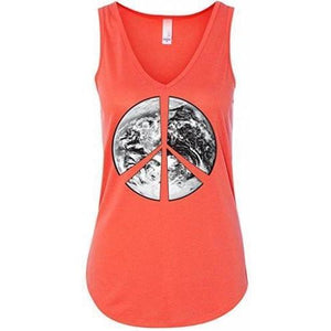 Ladies Peace Earth Flowy Tank Top - Yoga Clothing for You