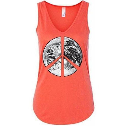 Yoga Clothing for You Ladies Peace Earth Flowy Tank Top