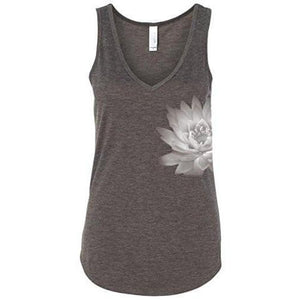 Womens Lotus Flower Flowy Tank Top - Yoga Clothing for You - 4