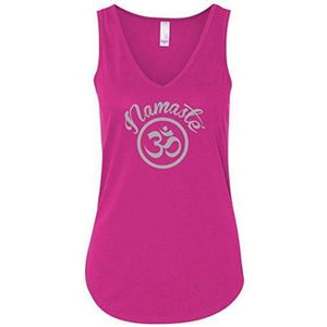 Womens Namaste OM Flowy Tank Top - Yoga Clothing for You - 1