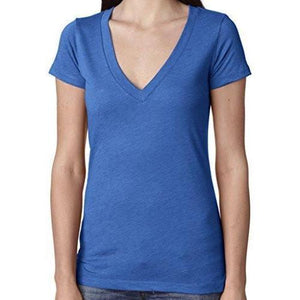 Womens Lightweight Deep V-neck Tee Shirt - Yoga Clothing for You - 15