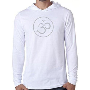 Mens Thin OM Hoodie Tee Shirt - Yoga Clothing for You - 6