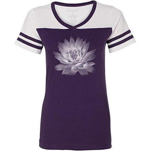 Womens Lotus Flower Tee Shirt - Yoga Clothing for You - 5