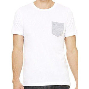 Mens Contrasting Color Pocket Tee Shirt - Yoga Clothing for You - 3