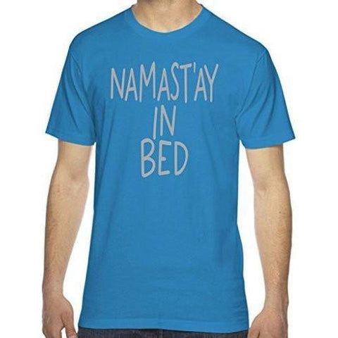 Yoga Clothing for You Men's Namast'ay in Bed T-shirt