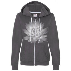 Womens Lotus Flower Full Zip Hoodie - Yoga Clothing for You - 3