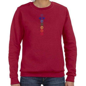Womens Colored Chakras Lightweight Sweatshirt - Yoga Clothing for You - 7