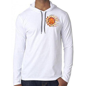 Mens Sleeping Sun Hoodie Tee Shirt - Pocket Print - Yoga Clothing for You - 7