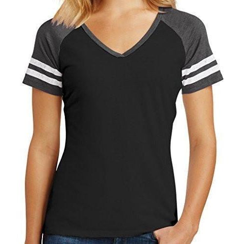 Womens Sporty V-neck Top - Yoga Clothing for You - 1