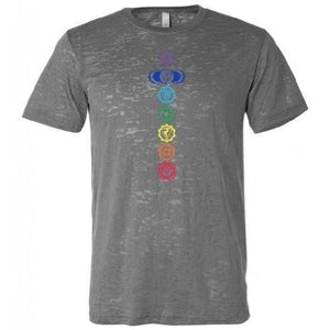 Mens Colored 7 Chakras Burnout Tee Shirt - Yoga Clothing for You - 3