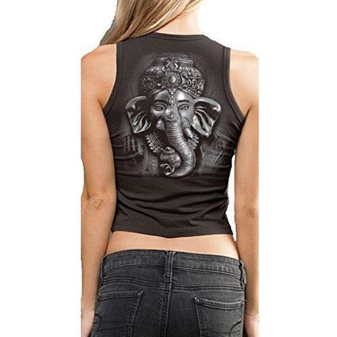 Yoga Clothing for You Ladies 3D Ganesha Cropped Tank Top