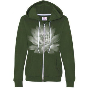 Womens Lotus Flower Full Zip Hoodie - Yoga Clothing for You - 4