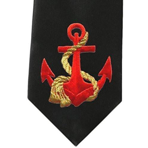 Yoga Clothing for You Mens Red Anchor Necktie