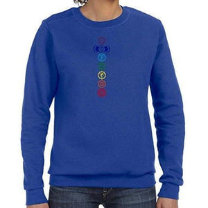Womens Colored Chakras Lightweight Sweatshirt - Yoga Clothing for You - 9